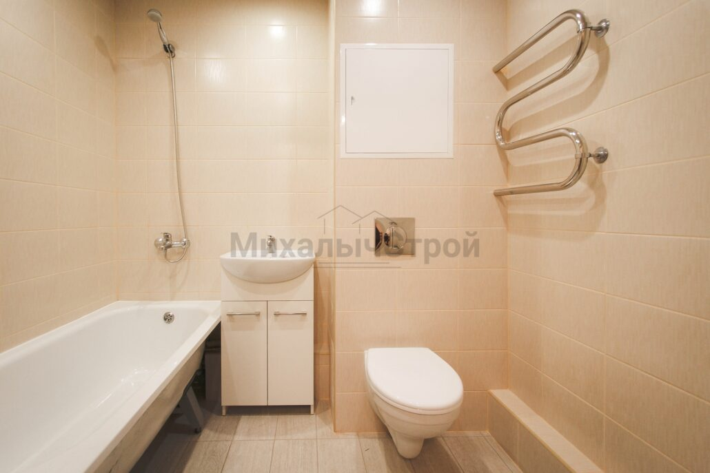 Фото ремонта ванной в квартире под сдачу